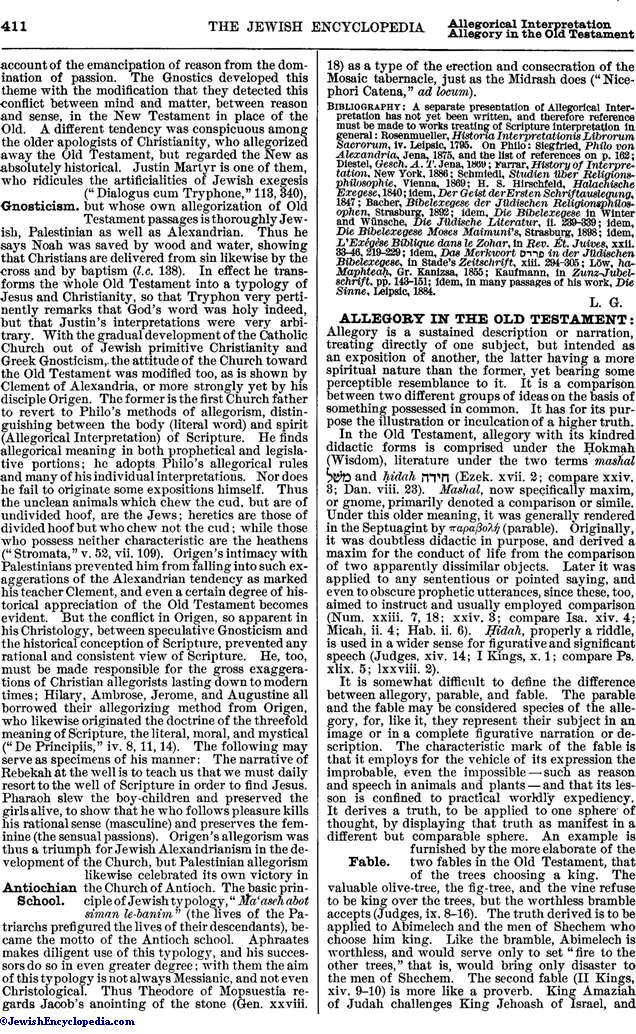 Allegorical Interpretation Jewishencyclopedia