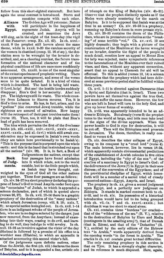 Isaiah Book Of Jewishencyclopedia