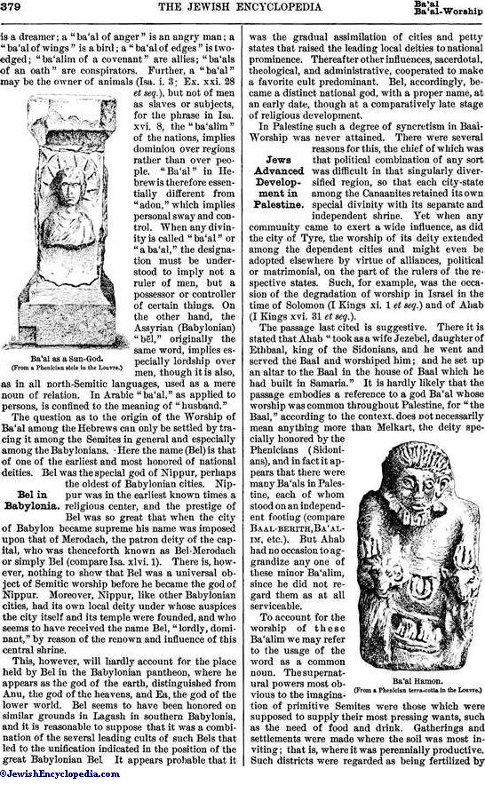 Baal And Baal Worship Jewishencyclopedia