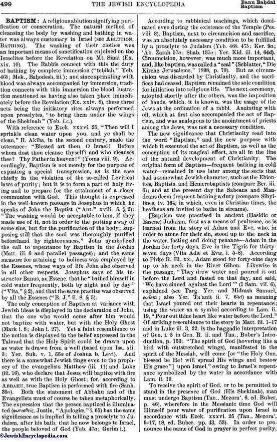 Baptism Jewishencyclopedia
