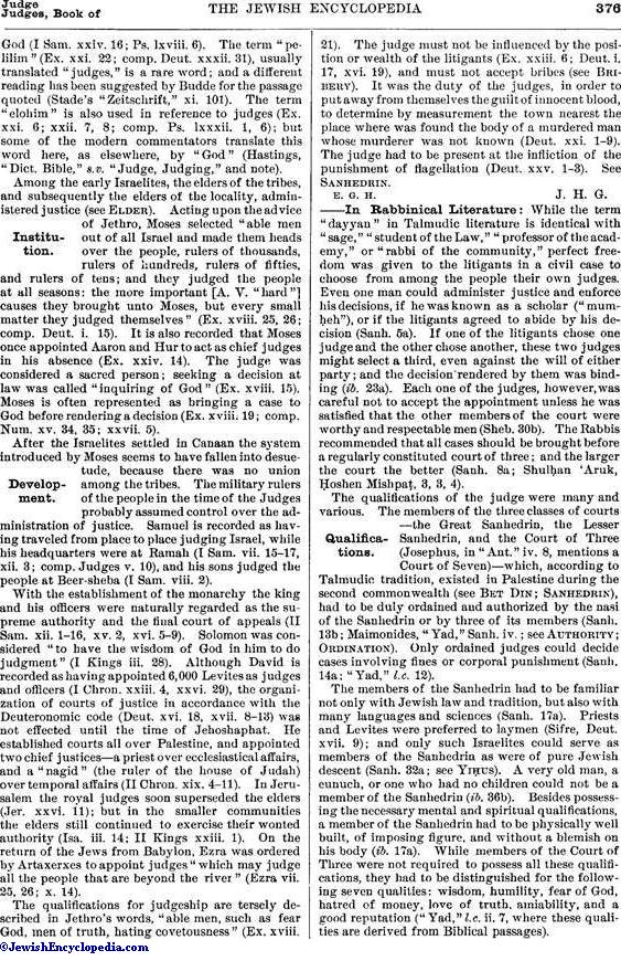 JUDGE - JewishEncyclopedia.com