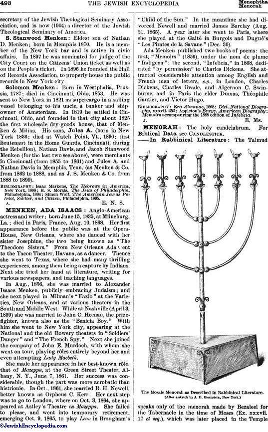 Menorah Jewishencyclopedia
