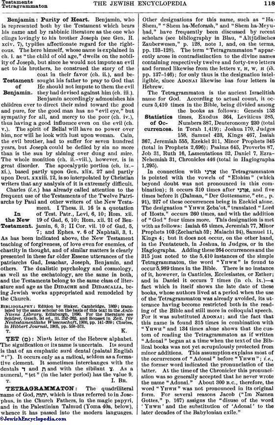 TETRAGRAMMATON - JewishEncyclopedia com