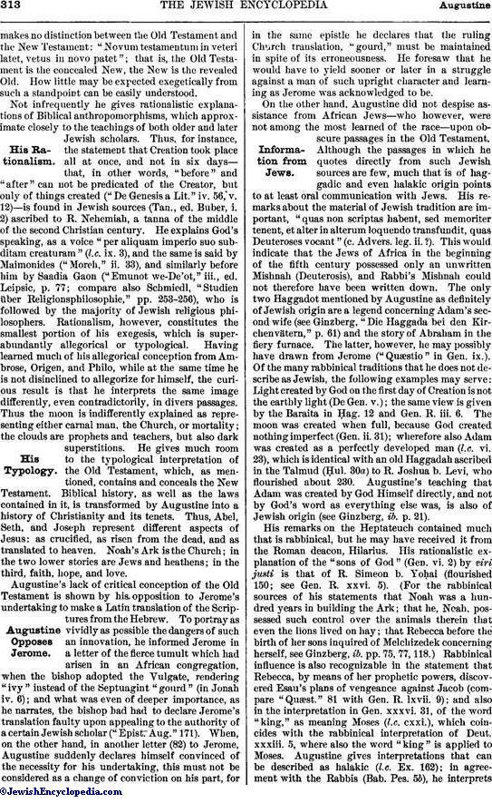 AUGUSTINE - JewishEncyclopedia com
