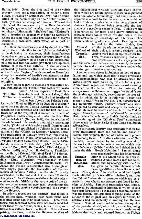TRANSLATIONS - JewishEncyclopedia com