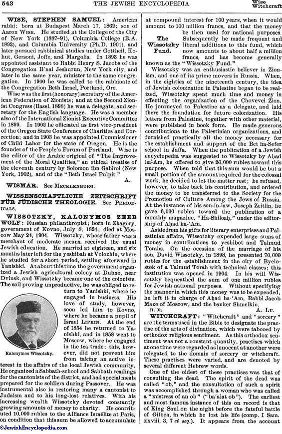 WITCHCRAFT - JewishEncyclopedia com