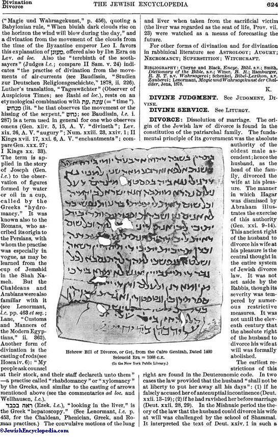 DIVORCE - JewishEncyclopedia com