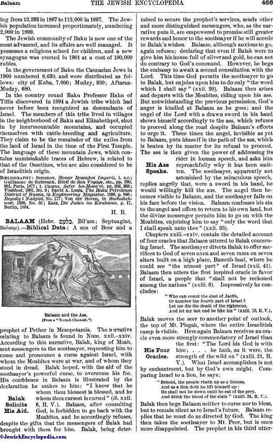 BALAAM - JewishEncyclopedia com