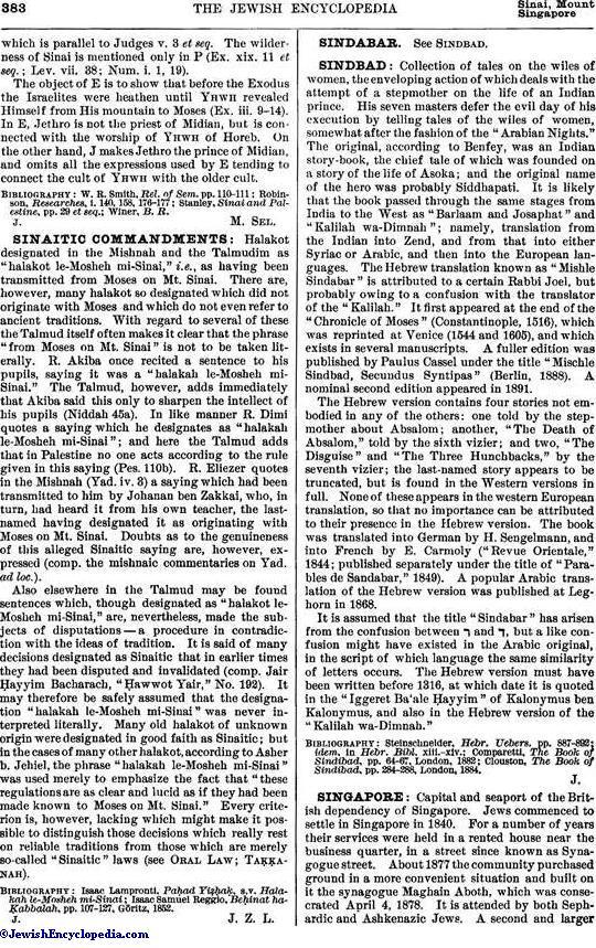 SINAI, MOUNT - JewishEncyclopedia com