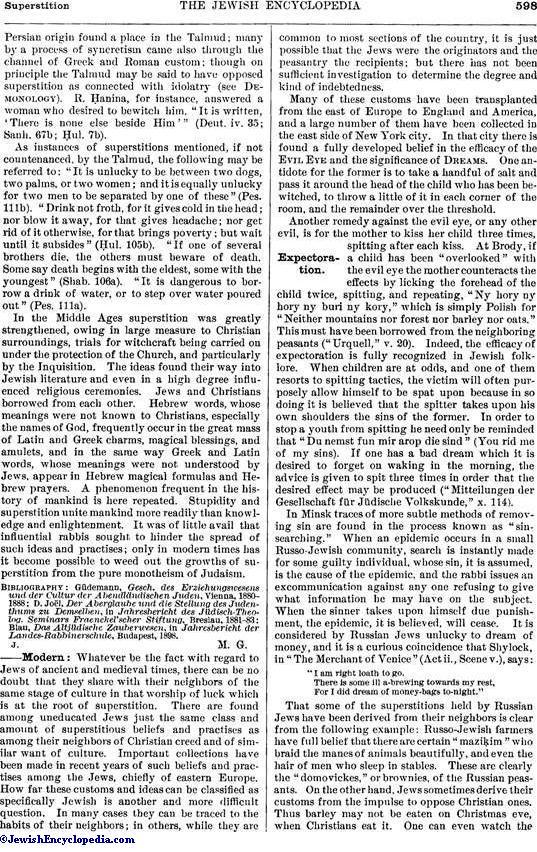 SUPERSTITION - JewishEncyclopedia com