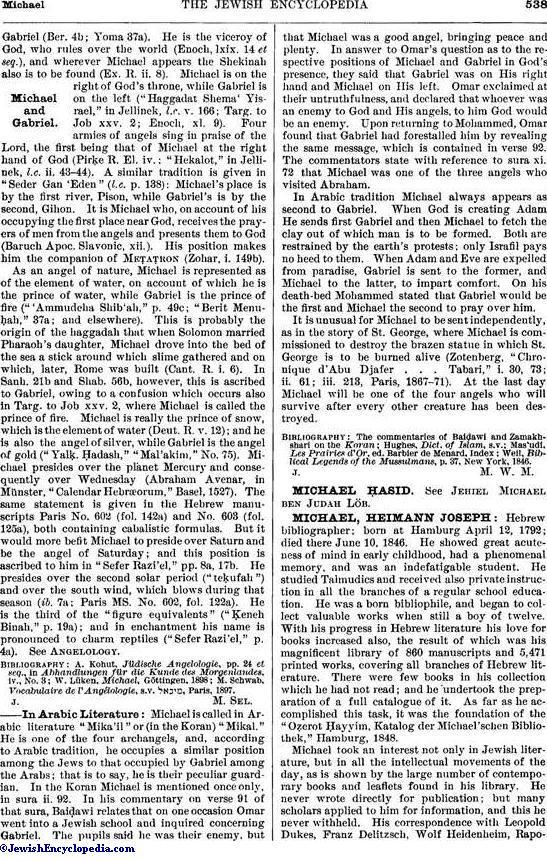 MICHAEL - JewishEncyclopedia com