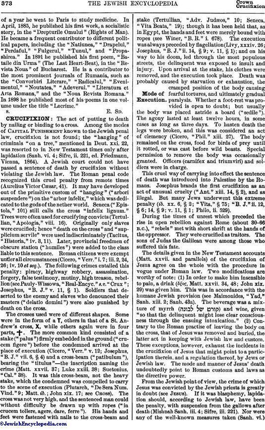 CRUCIFIXION - JewishEncyclopedia com