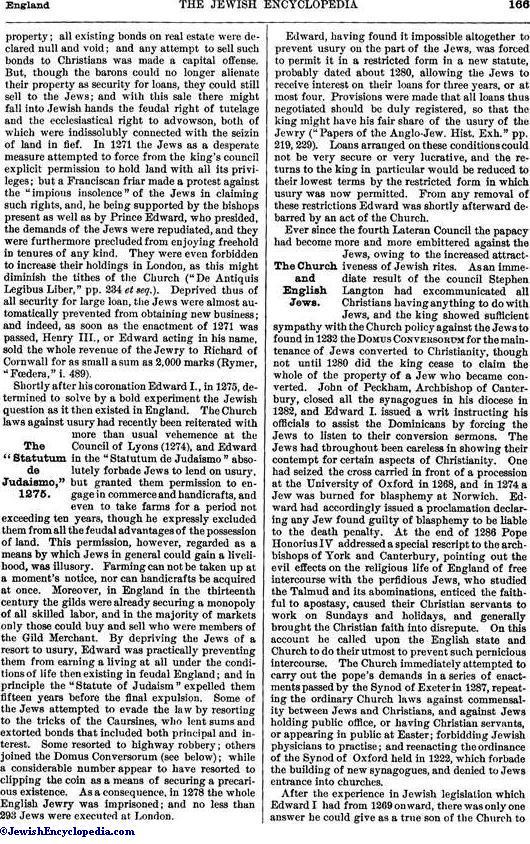 ENGLAND - JewishEncyclopedia com