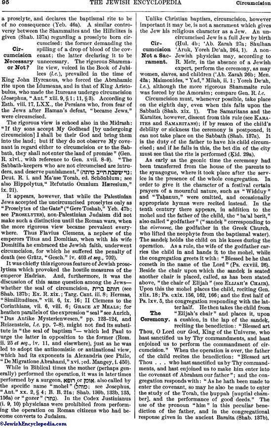 CIRCUMCISION - JewishEncyclopedia com