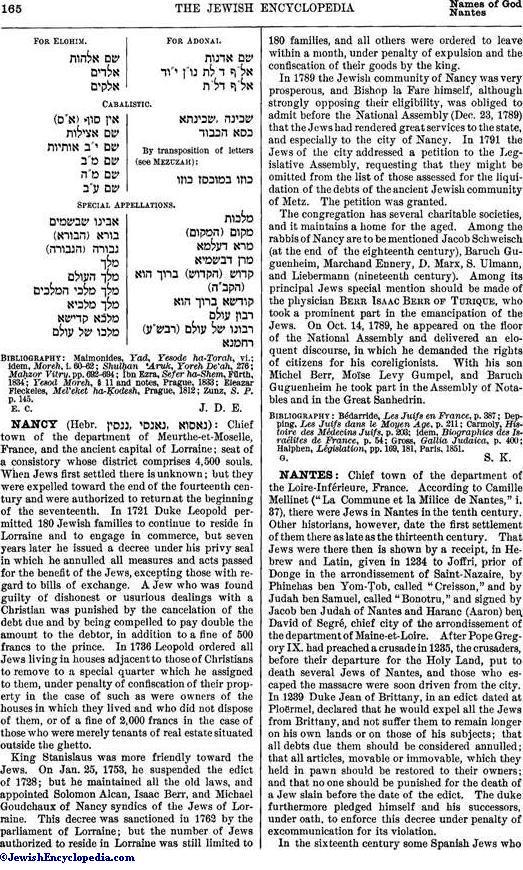 NAMES OF GOD - JewishEncyclopedia com
