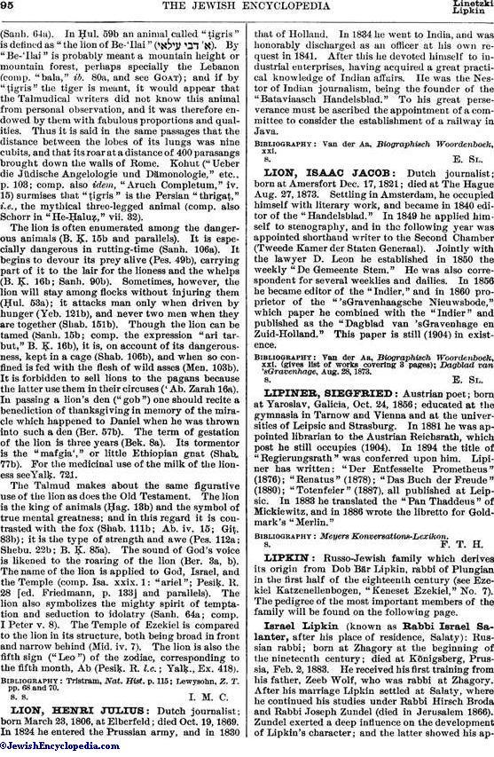 LION - JewishEncyclopedia com